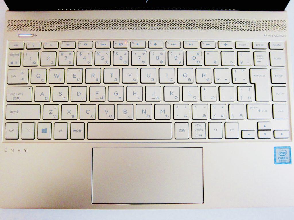 HP ENVY13キーボード