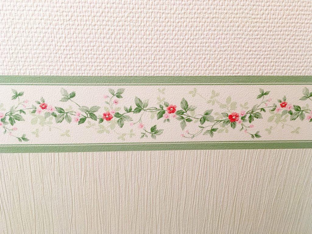 グリーン系のトイレの壁紙