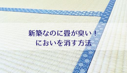 新築なのに和室の畳がカビ臭い!4つの原因とにおいを消す3つの方法